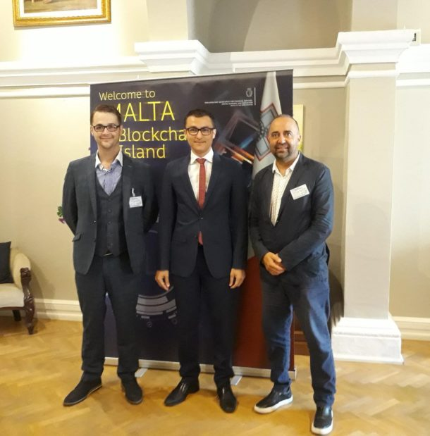 Meeting with Hon. Silvio Schembri MP, Parliamentary Secretary for Financial Services, Digital Economy and Innovation who embraces cryptocurrencies